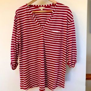 Banana Republic 3/4 length sleeve striped tshirt
